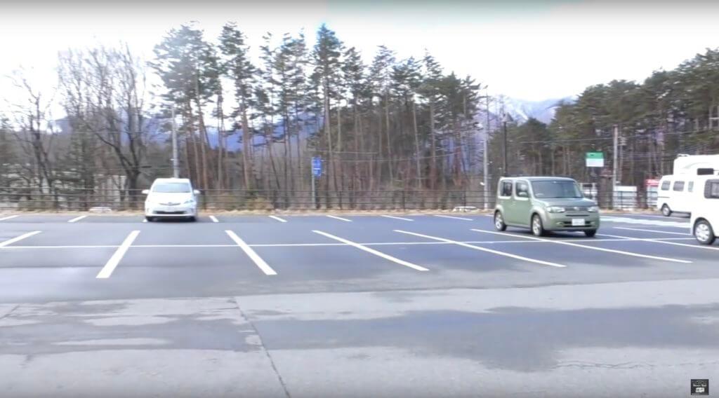 道の駅こぶちざわの駐車場